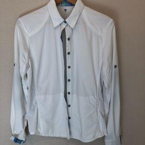 Kuhl Wunderer Button Down White Long Sleeve Shirt